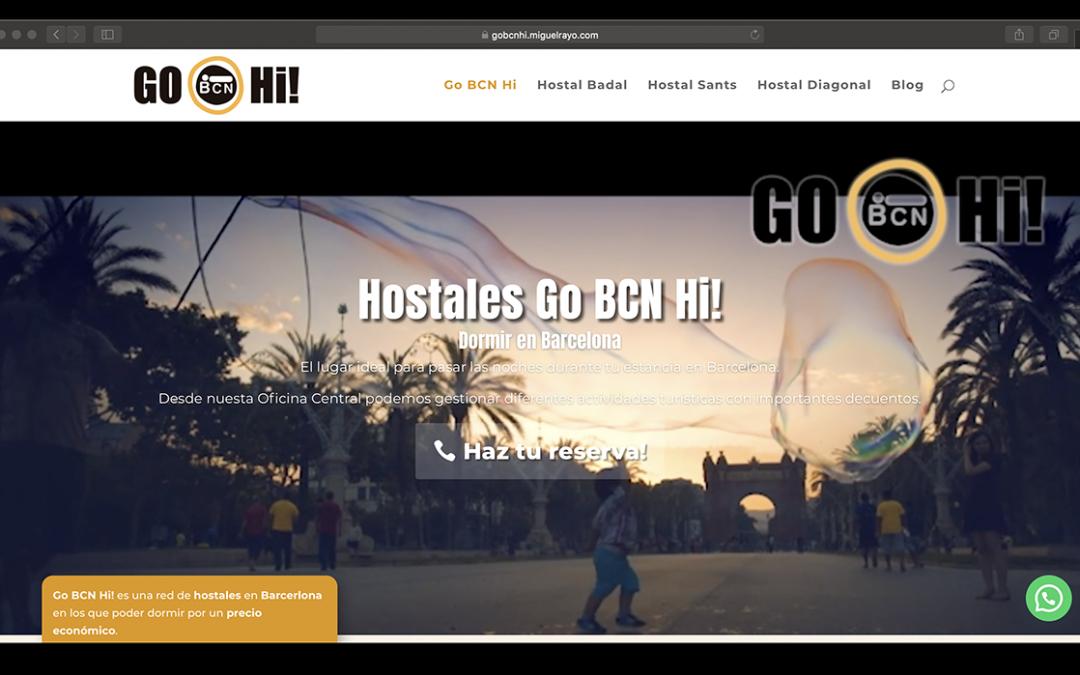 Actualización Web Hostales Go BCN Hi! Barcelona